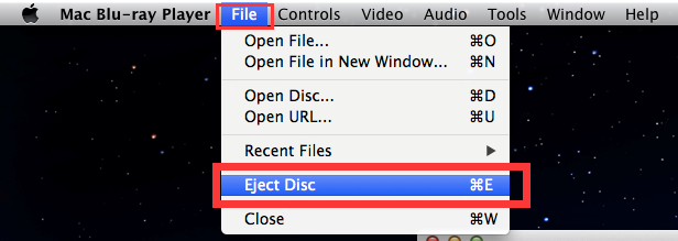 Use software to eject the drive